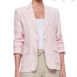 Neiman Marcus Pink Linen Blazer